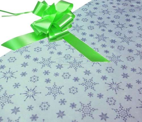 silver snowflakes hamper wrapping kit