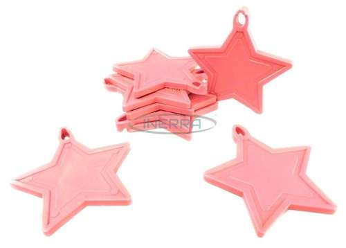 pink star balloon weights