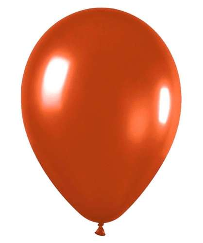 metallic balloons orange