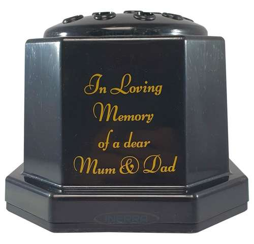mum dad memorial pot container vase flowers