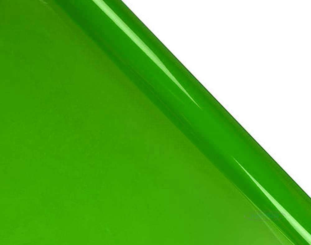 lime green tinted cellophane