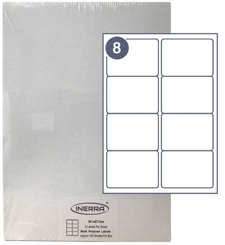 8 per sheet blank label template