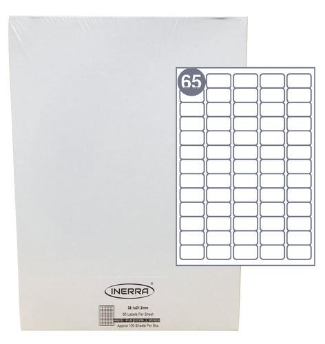 65 labels per sheet blank labels