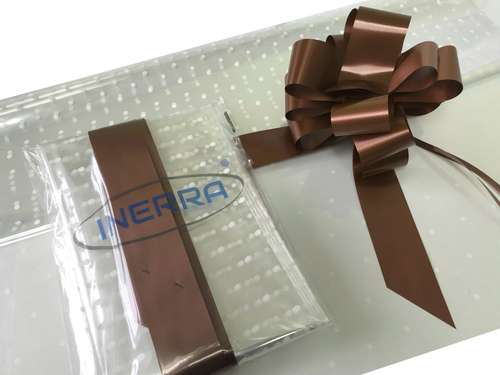 hamper wrapping kit gift basket christmas cellophane wrap and bow brown