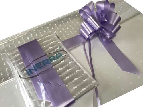 lilac hamper wrapping kit gift basket christmas cellophane wrap and bow