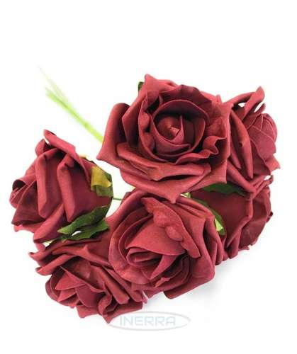 burgundy colourfast foam roses