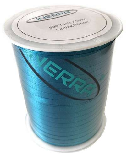 turquoise balloon string curling ribbon