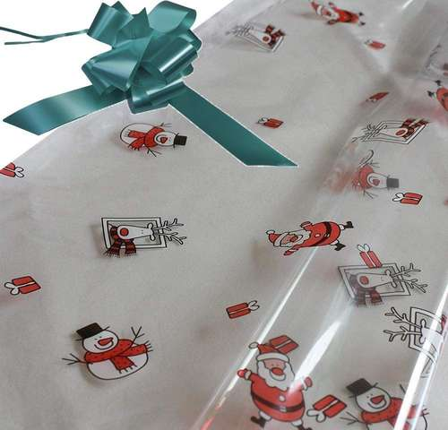 hunter green hamper wrapping kit cellophane wrap santa