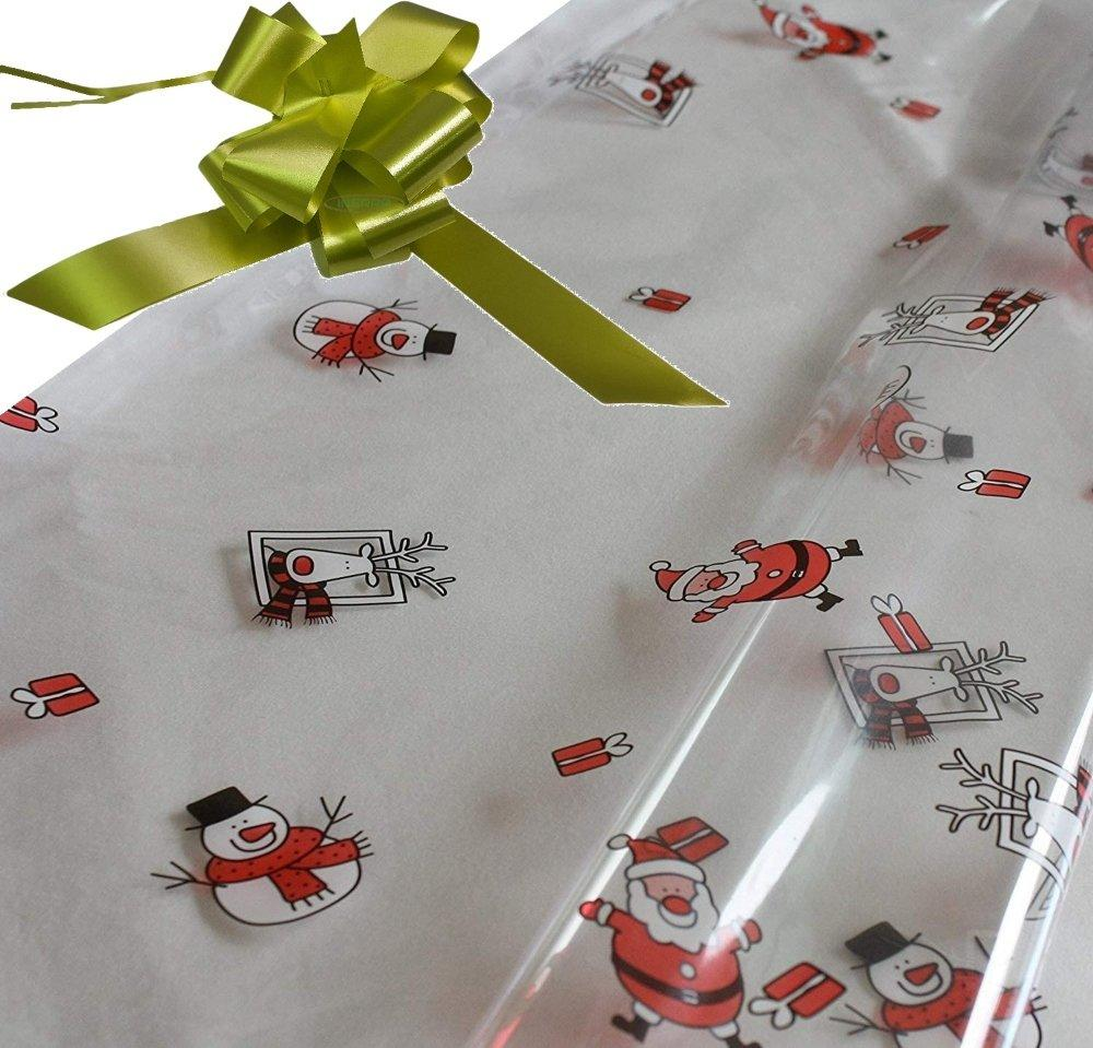 olive hamper wrapping kit cellophane wrap santa