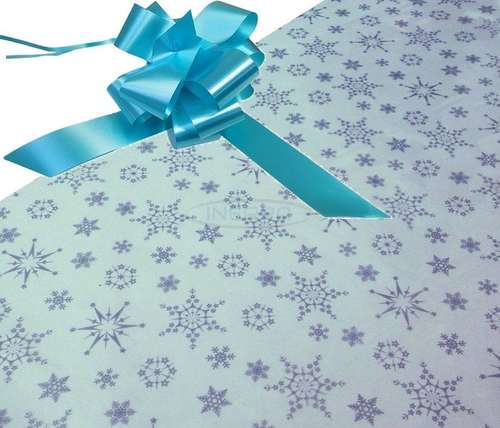 aqua christmas hamper wrapping kit cellophane and bow
