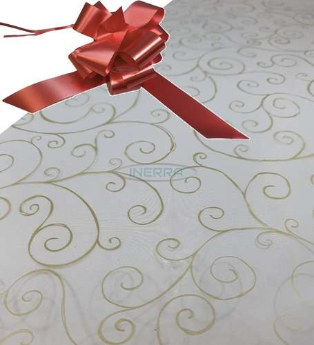 burgundy  hamper wrap kit cellophane bow wrapping gold scroll