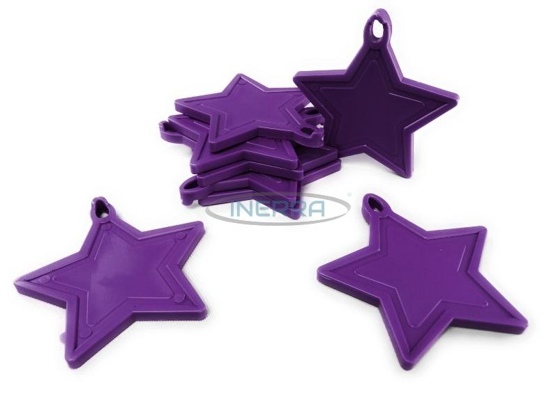 purple star balloon weights