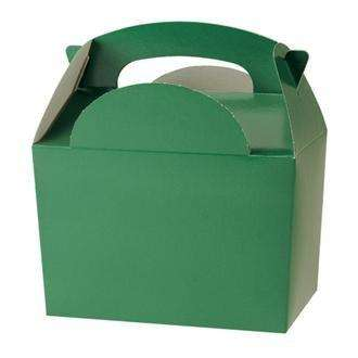 dark green party food boxes