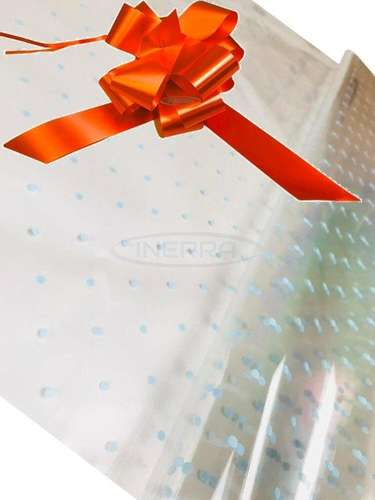 orange blue dot cellophane baby shower gifts hamper basket wrapping cellophane and bow