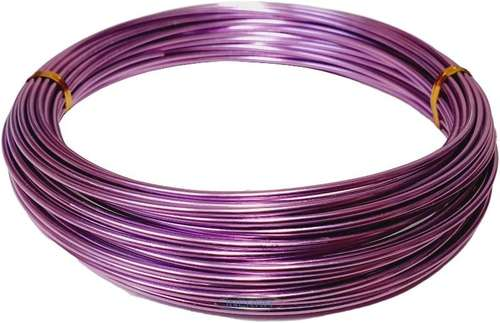 purple Green Aluminium Florist Wire - 11.5 Metre Reel