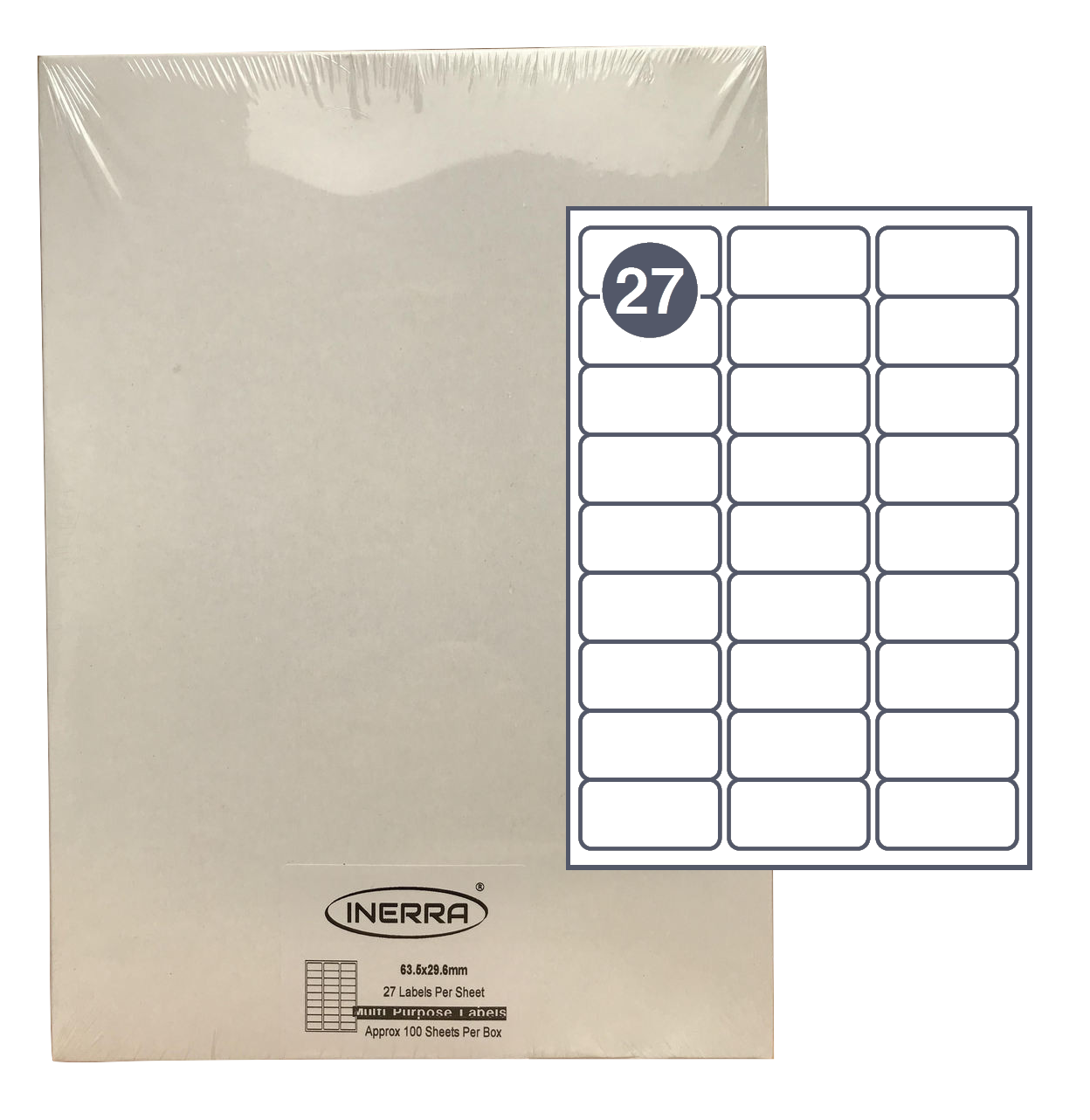 27 per sheet blank label template