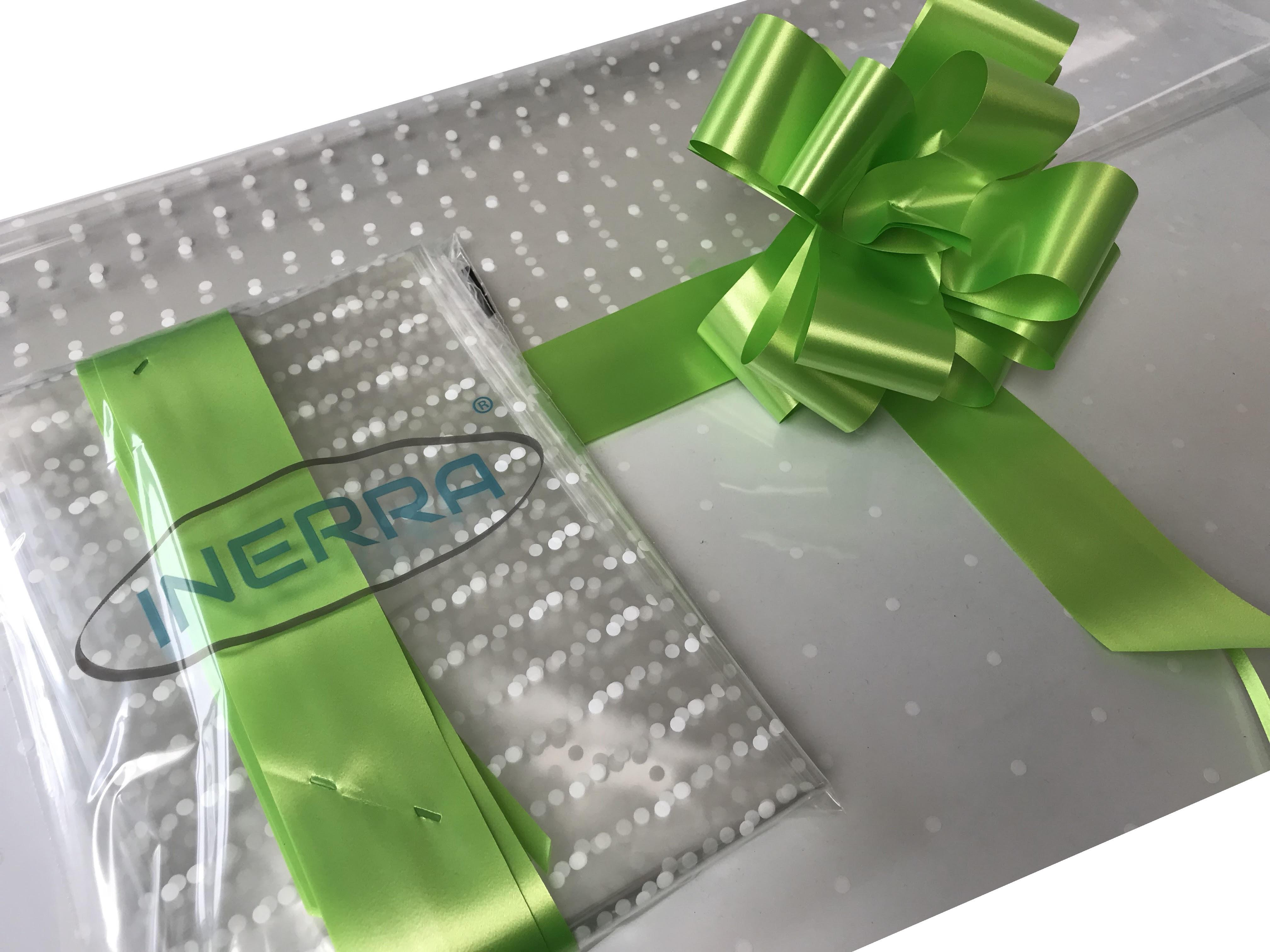 lime green hamper wrapping kit gift basket christmas cellophane wrap and bow