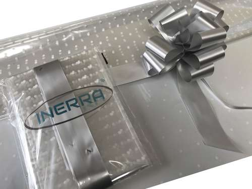 silver hamper wrapping kit gift basket christmas cellophane wrap and bow