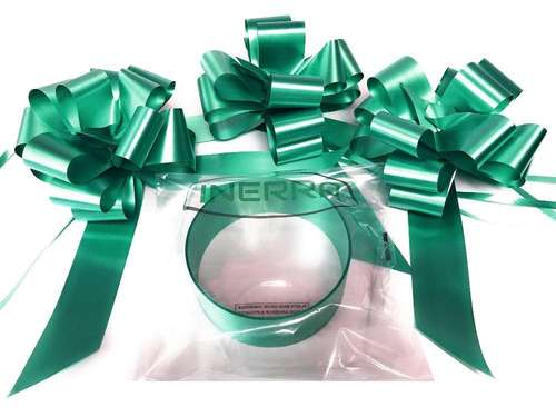 emerald green wedding car decoration kit ribbon and bows