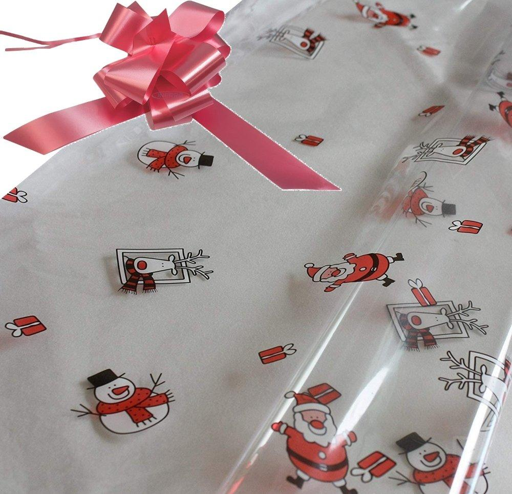 baby pink hamper wrapping kit cellophane wrap santa