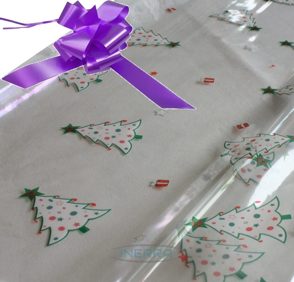 lilac hamper wrapping kit christmas trees cellophane wrap