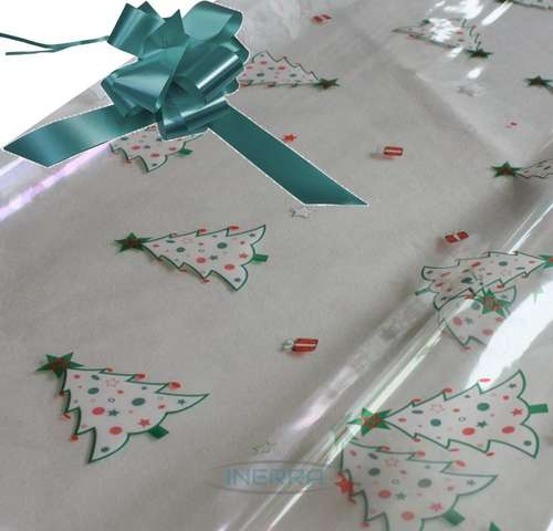 turquoise hamper wrapping kit christmas trees cellophane wrap