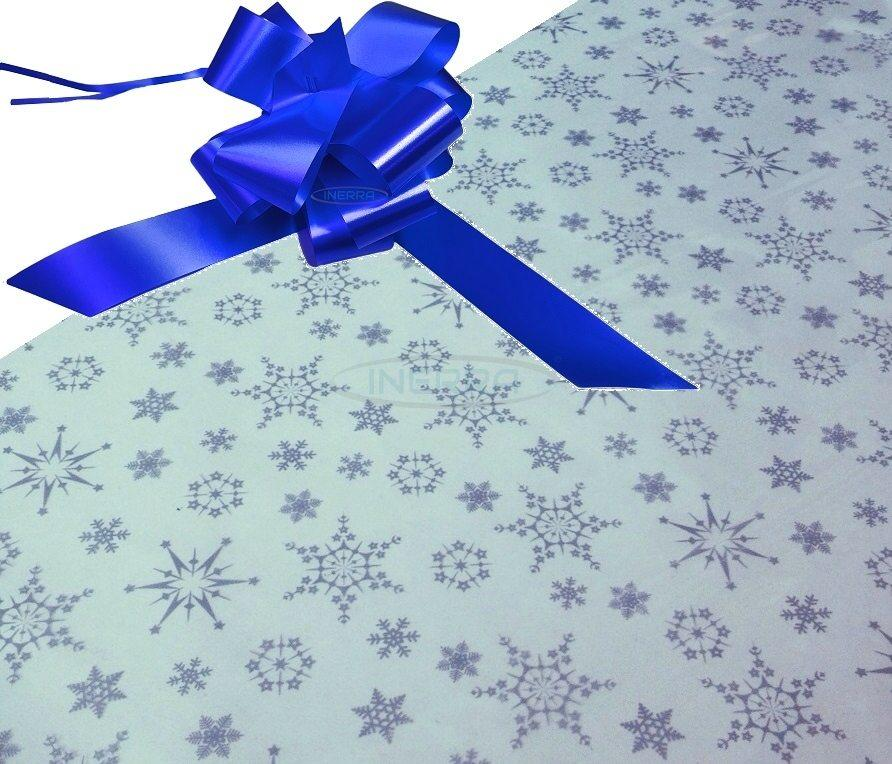 royal blue hamper wrapping kit cellophane bow christmas