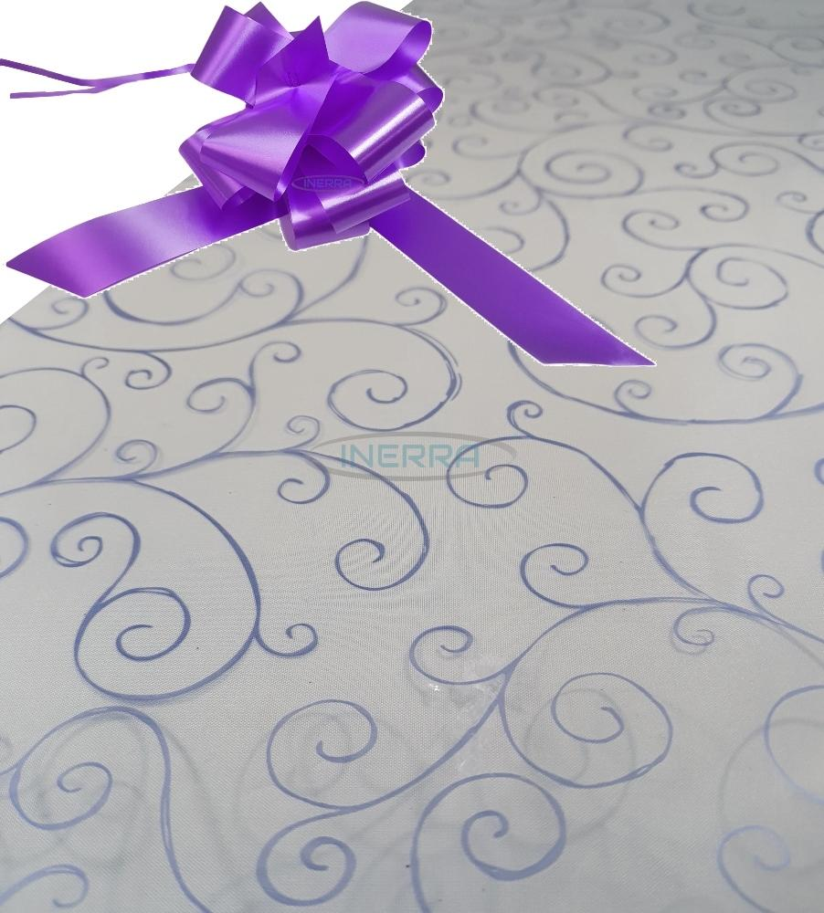 lilac hamper wrapping kit cellophane wrap bow