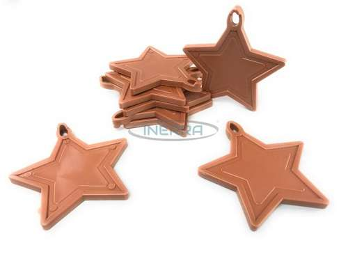 copper star balloon weights