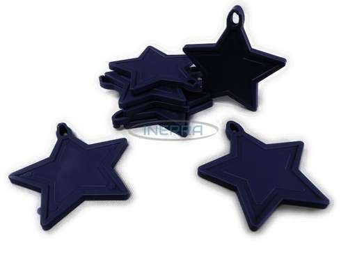 navy blue balloon weights star
