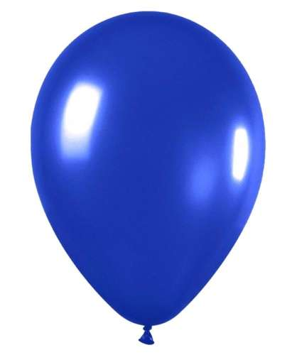 metallic royal blue balloons