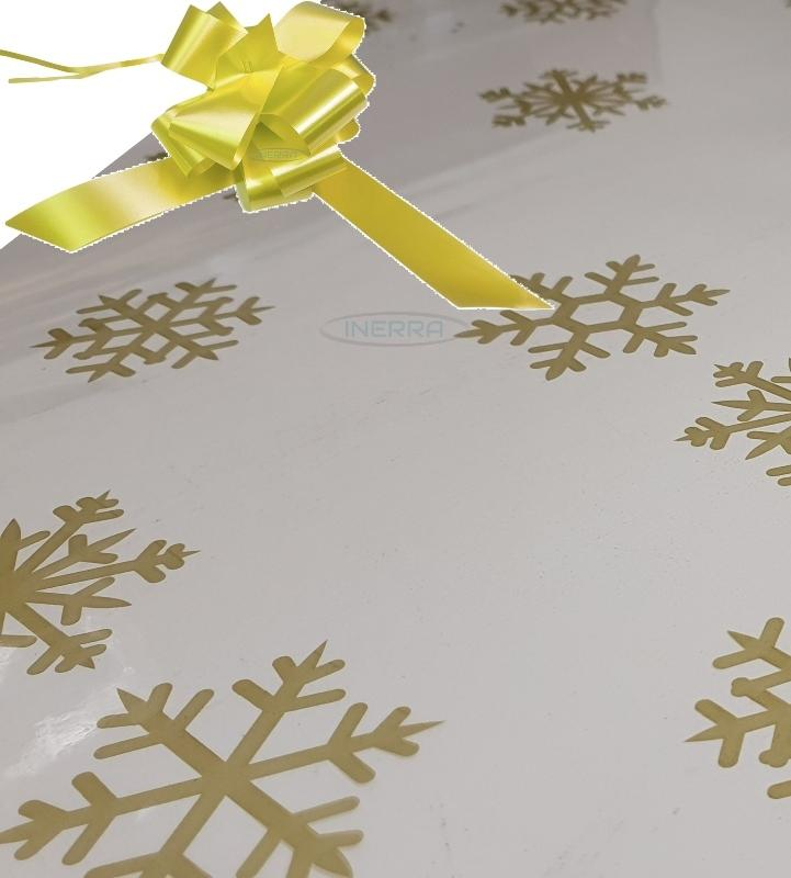 lemon christmas cellophane wrap for hampers snowflakes bow