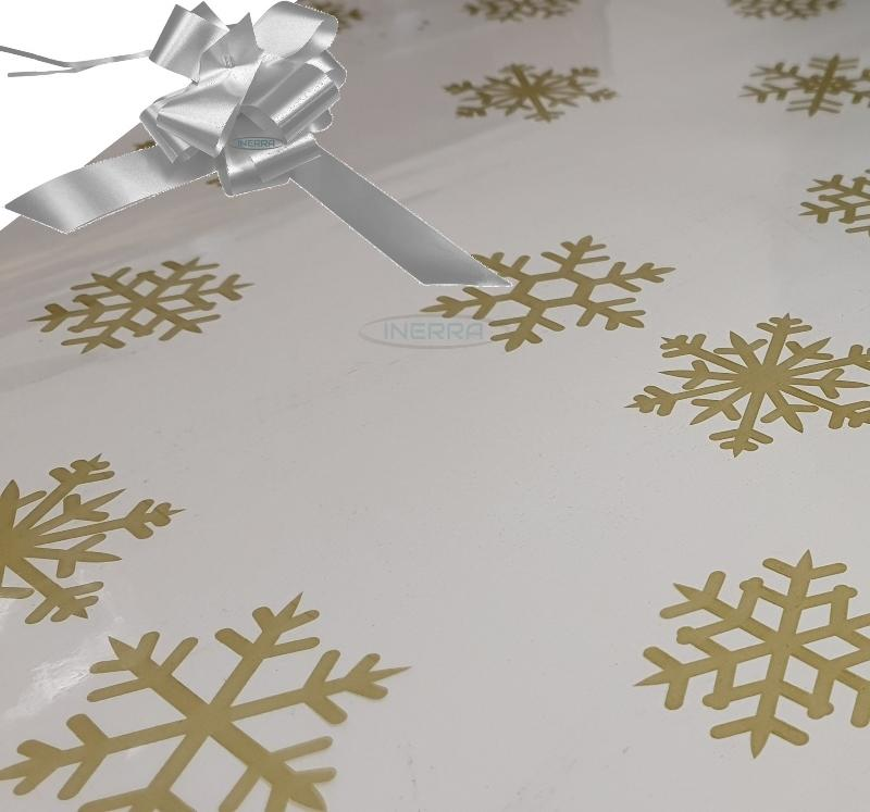 silver christmas cellophane wrap for hampers snowflakes bow