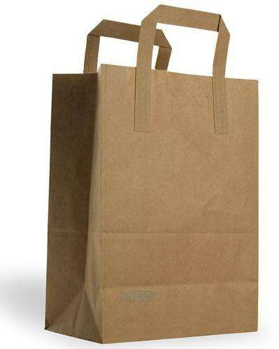 brown kraft paper bags handles