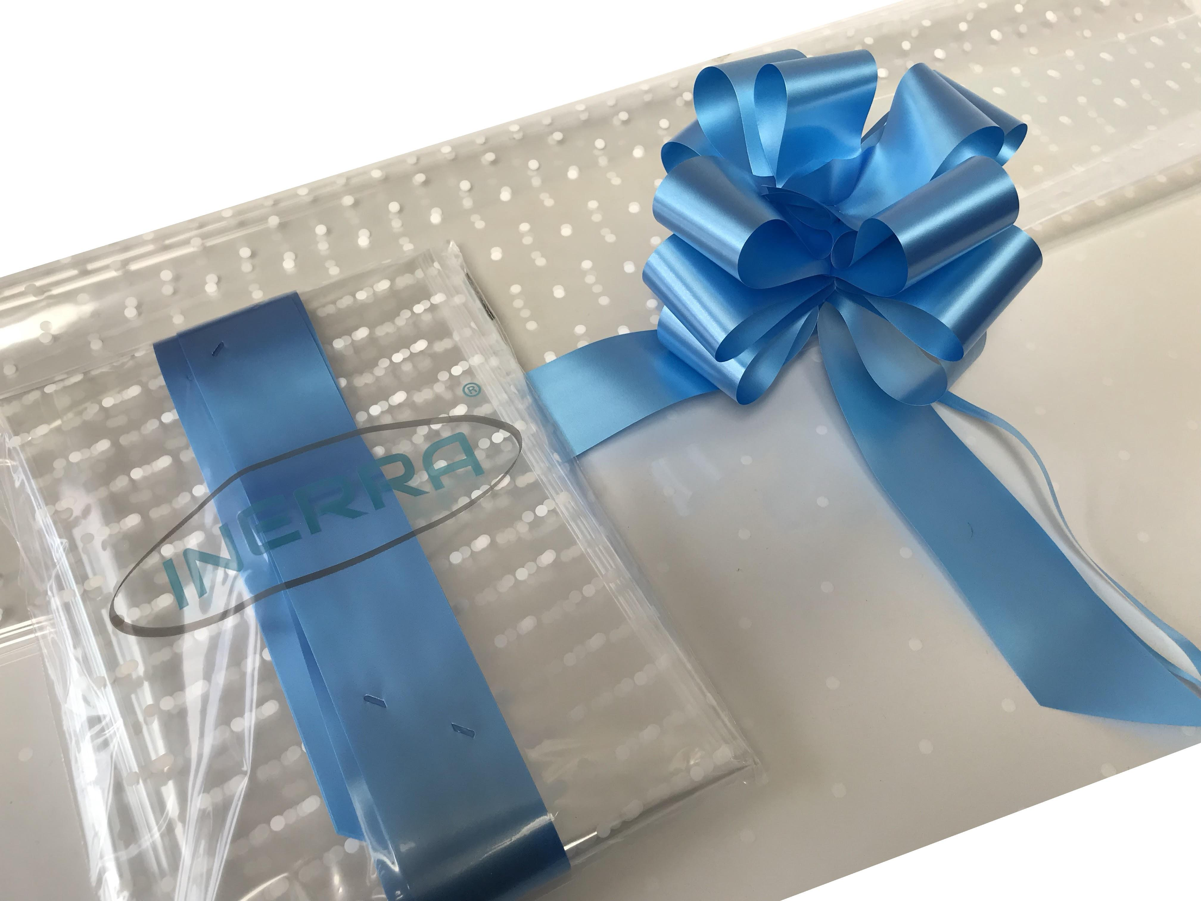 mid blue hamper wrapping kit gift basket christmas cellophane wrap and bow