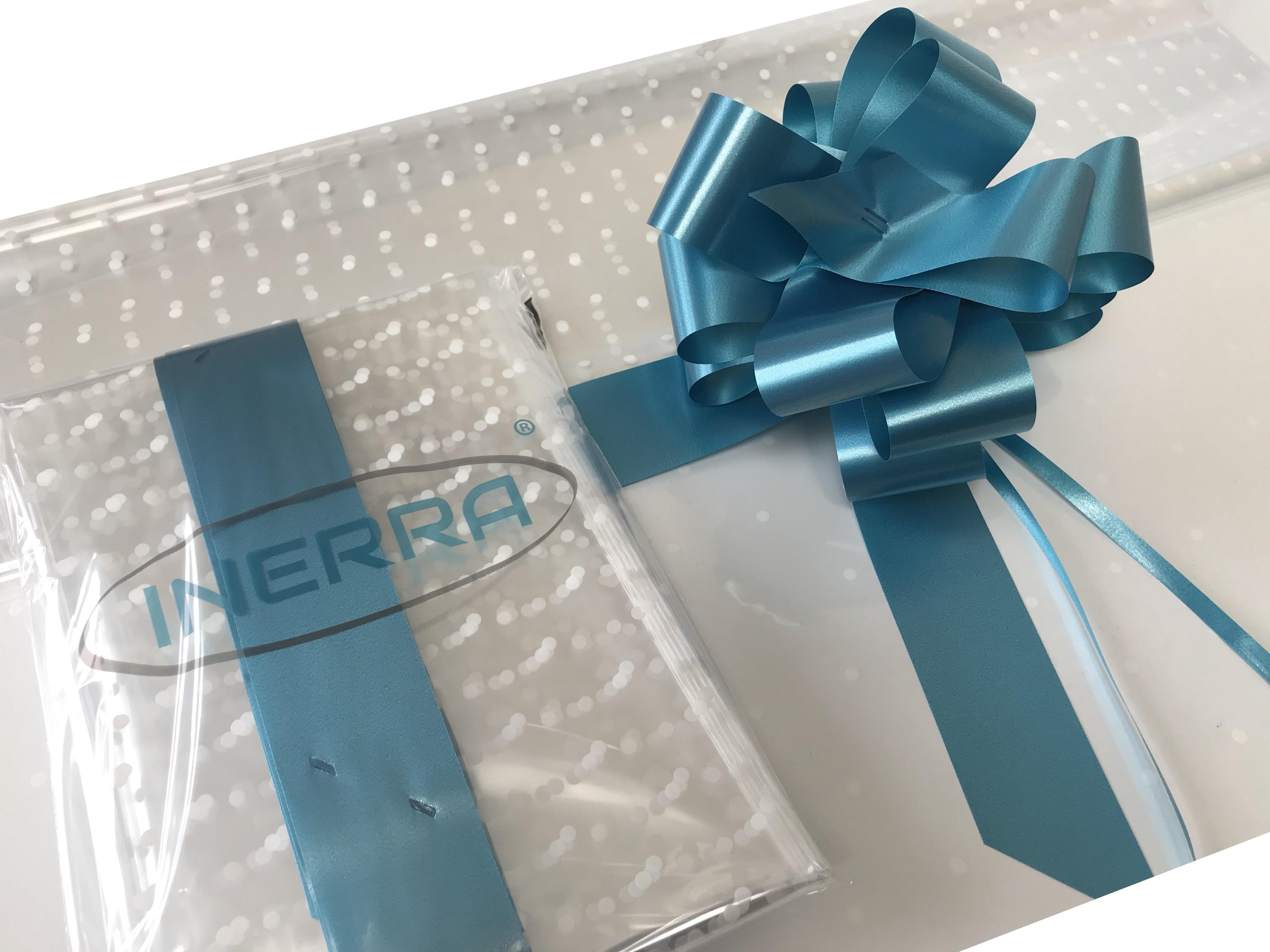 turquoise hamper wrapping kit gift basket christmas cellophane wrap and bow