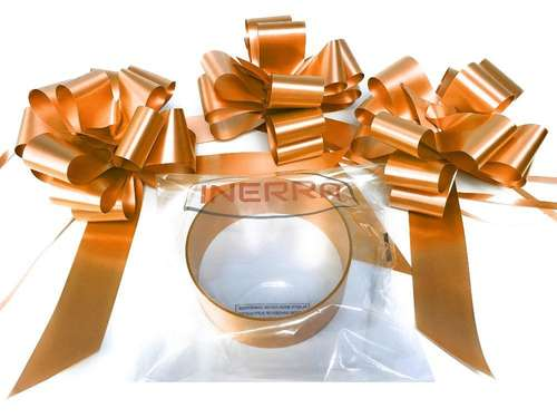 copper wedding car decoration kit ribbon and bows
