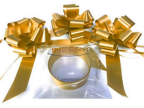 gold wedding car decoration kit ribbon and bows