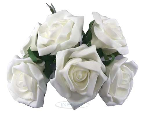 ivory colourfast foam roses