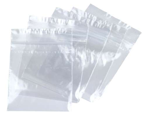 "7.5"" clear grip seal bags"