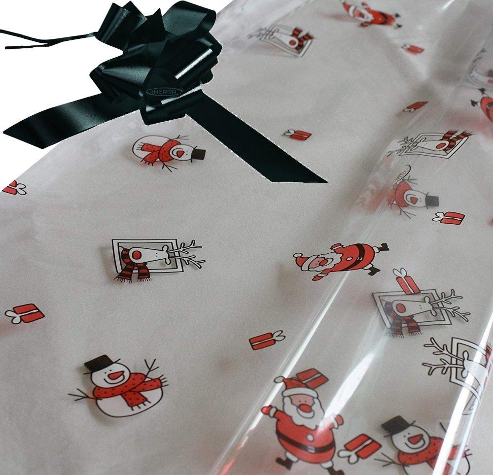 hamper wrapping kit cellophane wrap santa black
