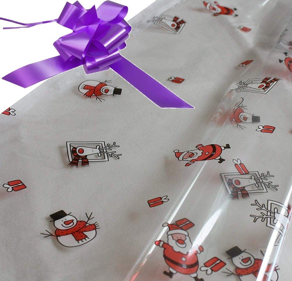 lilac hamper wrapping kit cellophane wrap santa