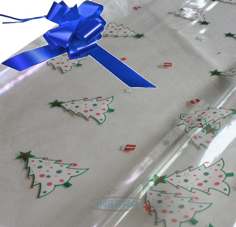 royal blue hamper wrapping kit christmas trees cellophane wrap