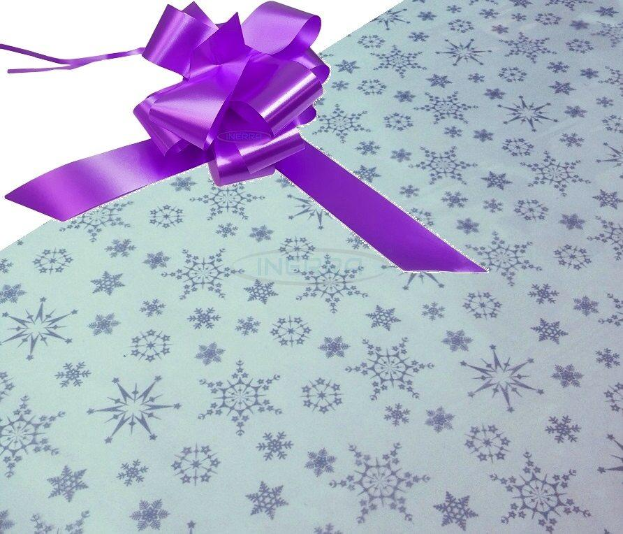 lilac hamper wrapping kit cellophane bow christmas