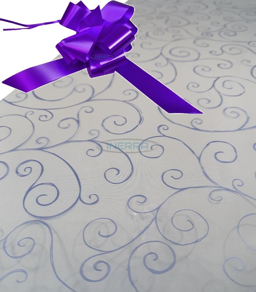 purple hamper wrapping kit cellophane wrap bow