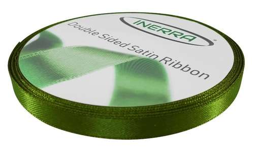 moss green 10mm ribbon satin