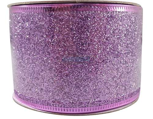 lilac christmas glitter ribbon