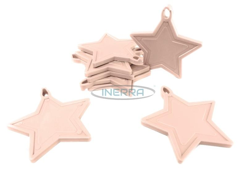 baby pink star weights balloon