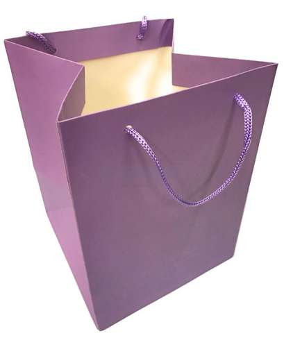 lilac christmas gift bag rope handles