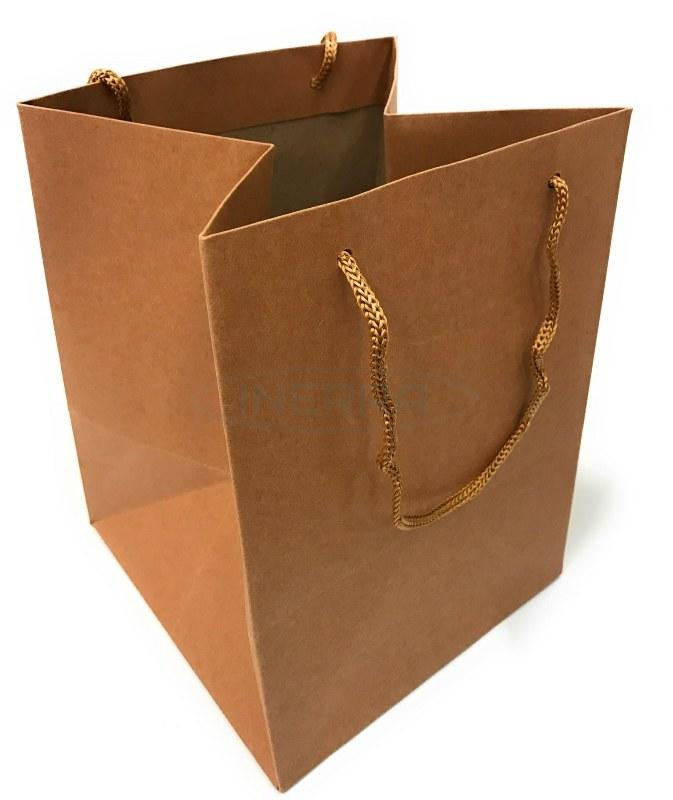kraft christmas gift bag rope handles
